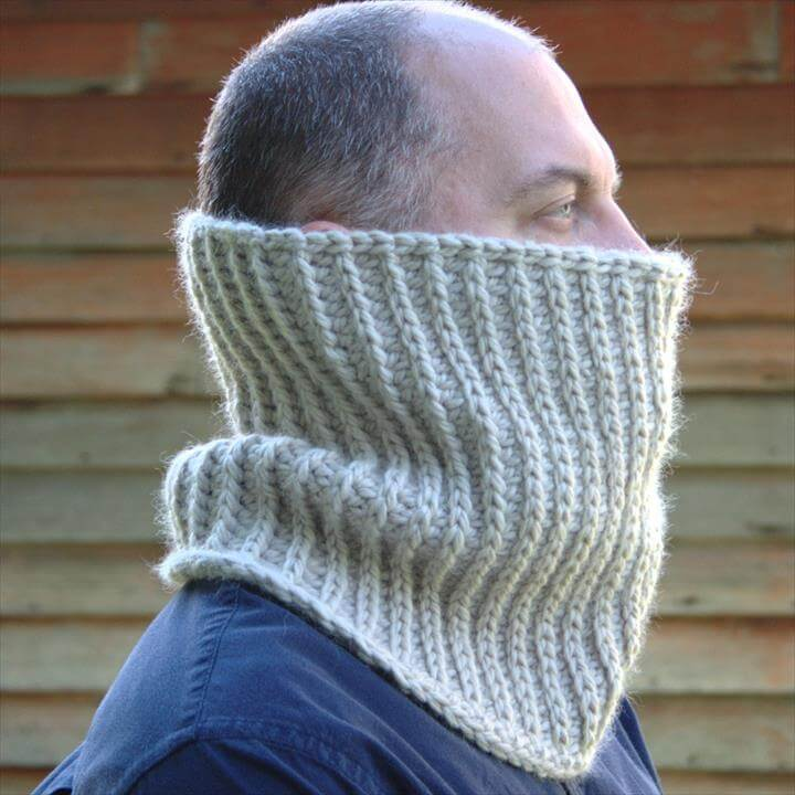Mens Crochet Cowl Pattern Crochet Mens Neck Warmer Unisex Cowl Pattern Boys Cowl Pattern