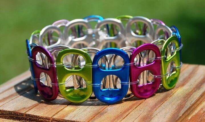 RECYCLED Multicolor Soda Tab Bracelet