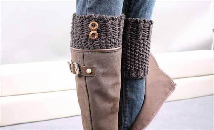 Crochet leag warmer with cuff socks