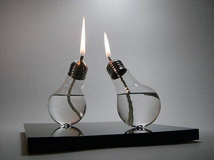 Pendant Lamp: Use a combination of burnt out bulbs and ones you can replace to create this eco-chic piece.
