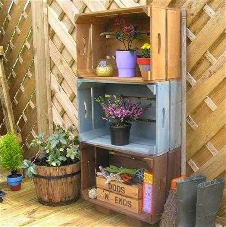 original recycling ideas old crates DIY patio furniture ideas