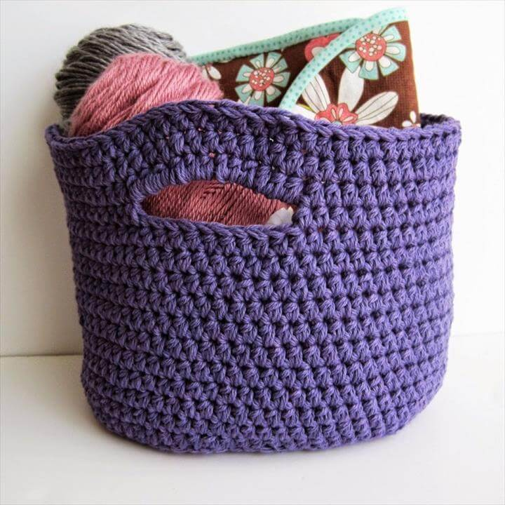 storage basket from crochet