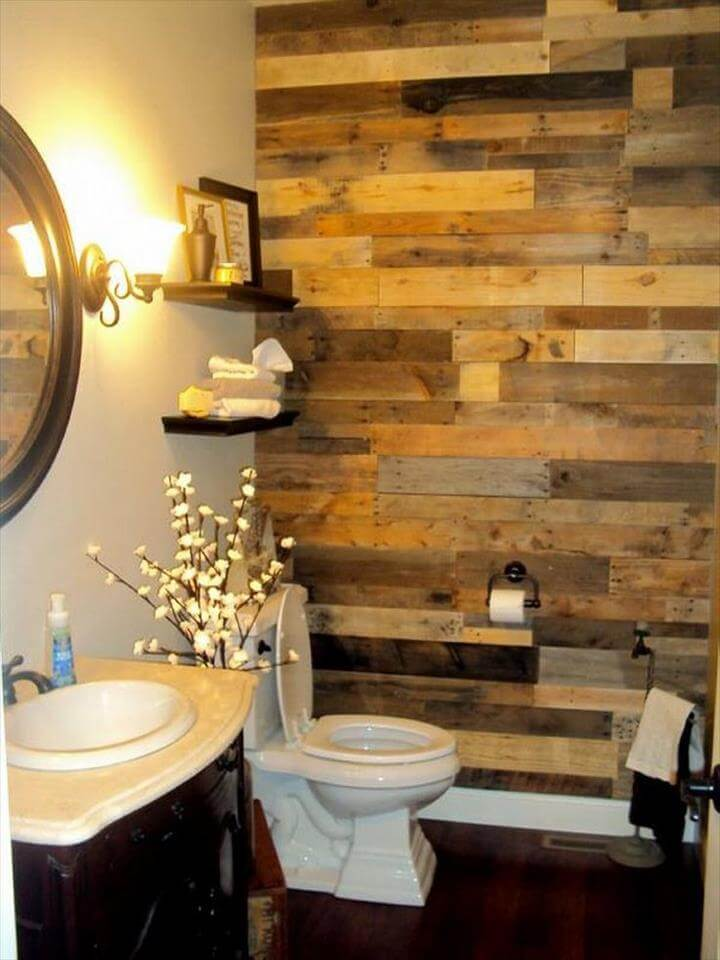 15 Decorate Bathroom With Recycled Stuff