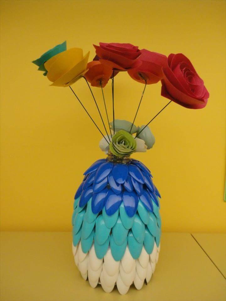 diy spoon vase