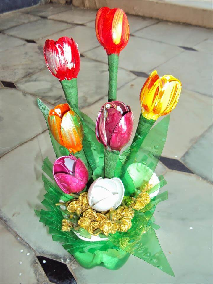 Decorative tulips