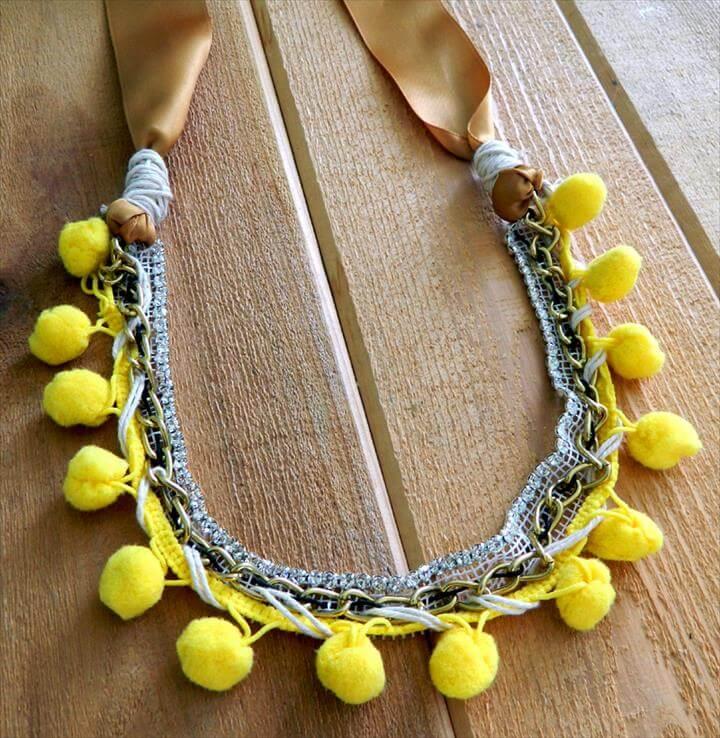 Pom Pom Jewelry DIY