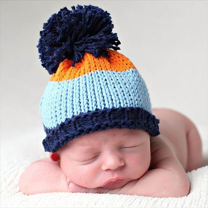 Free Crochet Pattern For Child Slouch Hat : 30 Amazing Crochet Pom Pom Hat Ideas DIY to Make