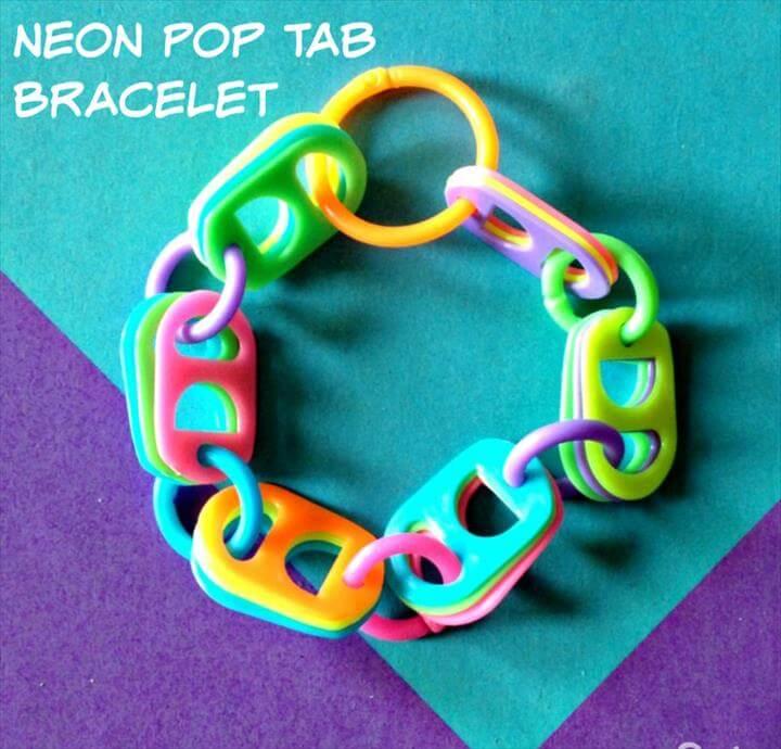 Pop Tab Crafts Bracelet Supplies: