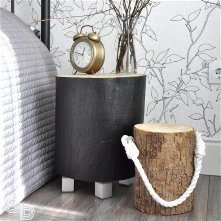 Project Ideas to Recycle Tree Stumps for Home Decorating