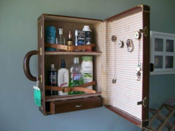Recycled Suitcases Bathroom Vanity. ""
