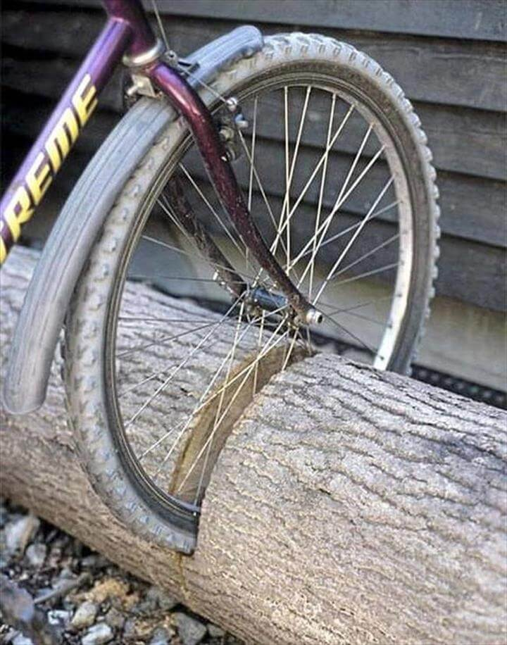 All-natural bike stand