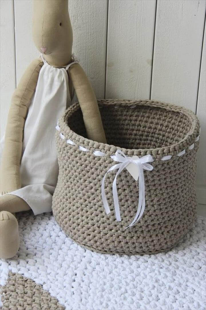 crochet toys basket