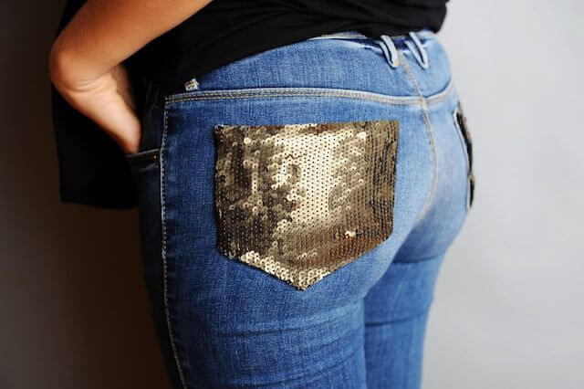 Sequin Pocket Jeans