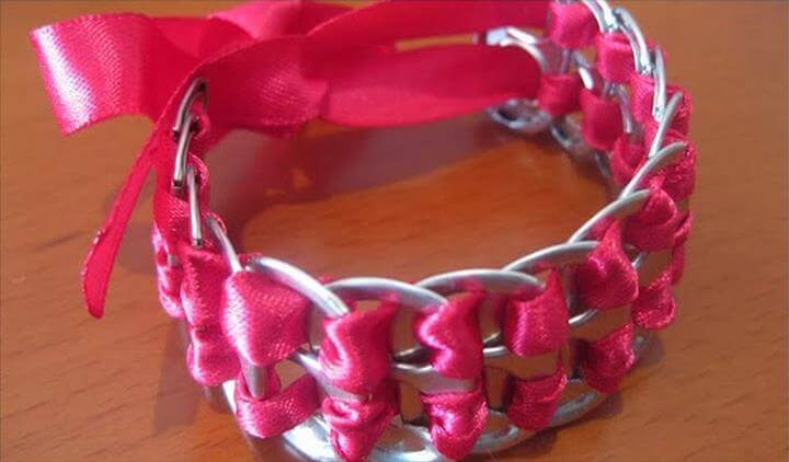 belts and bracelets out of soda pop tabs