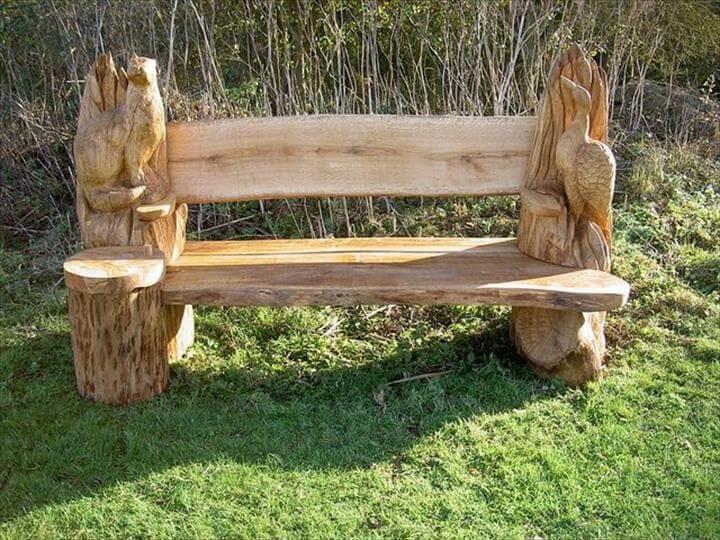 Creative Ideas - Stunning Tree Trunk Garden Furniture