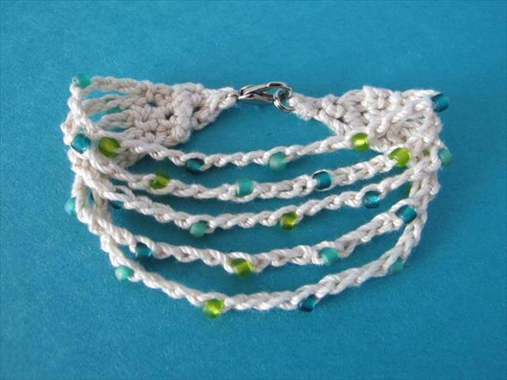 Summer Cotton Crocheted Bracele