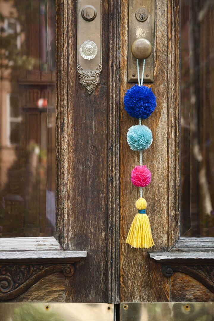 Summer Pom Pom Door Swag