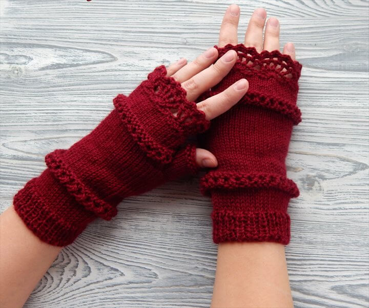 rec crochet arm warmer