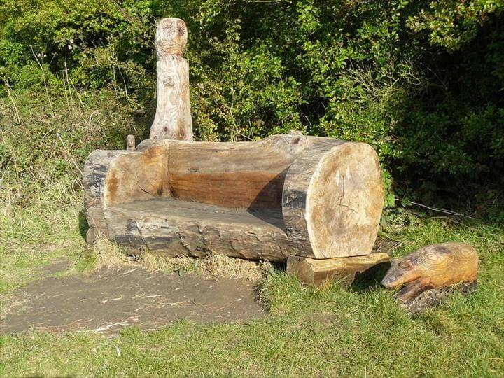45 Amazing Ideas With Recycled Tree Trunks DIY To Make