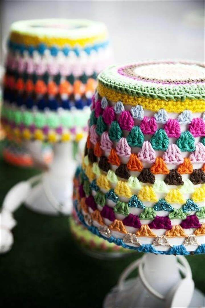 amazing crochet lamp shade
