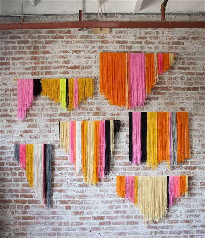 Yarn Banner Wall Decor Idea