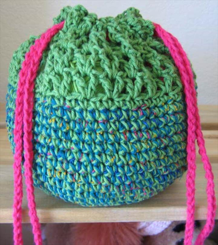diy yarn bowl bag
