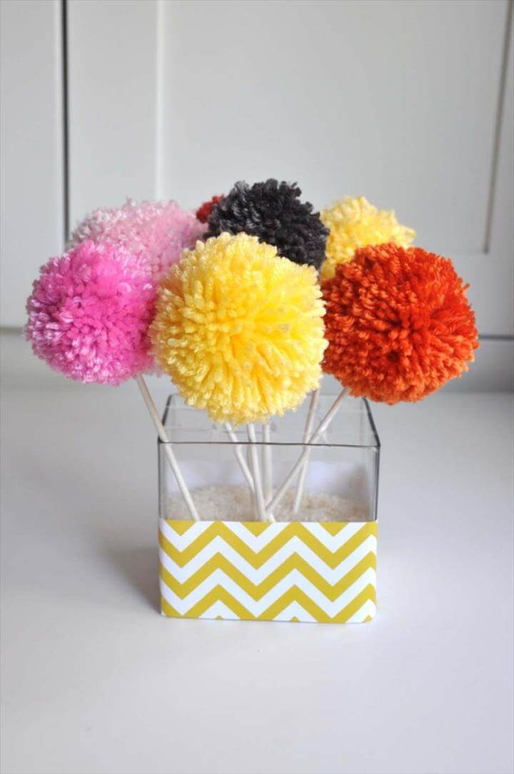 Yarn Pom Pom Bouquets
