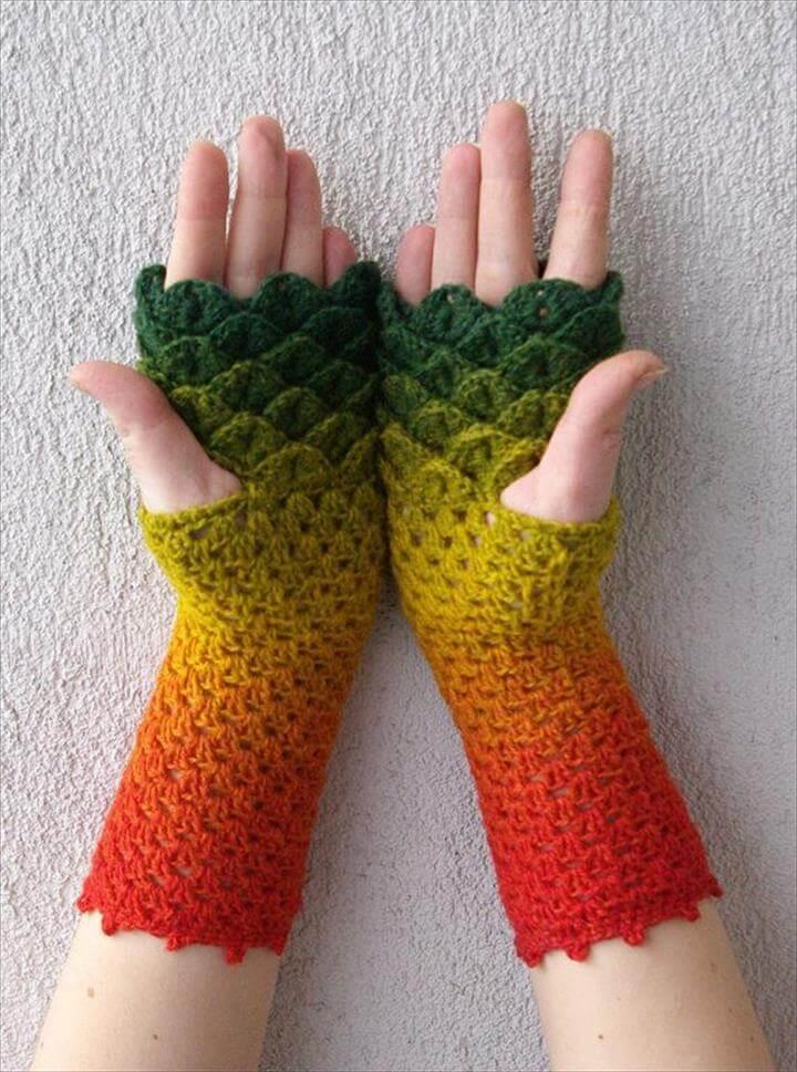 amazing crochet hand gloves for muslim womens