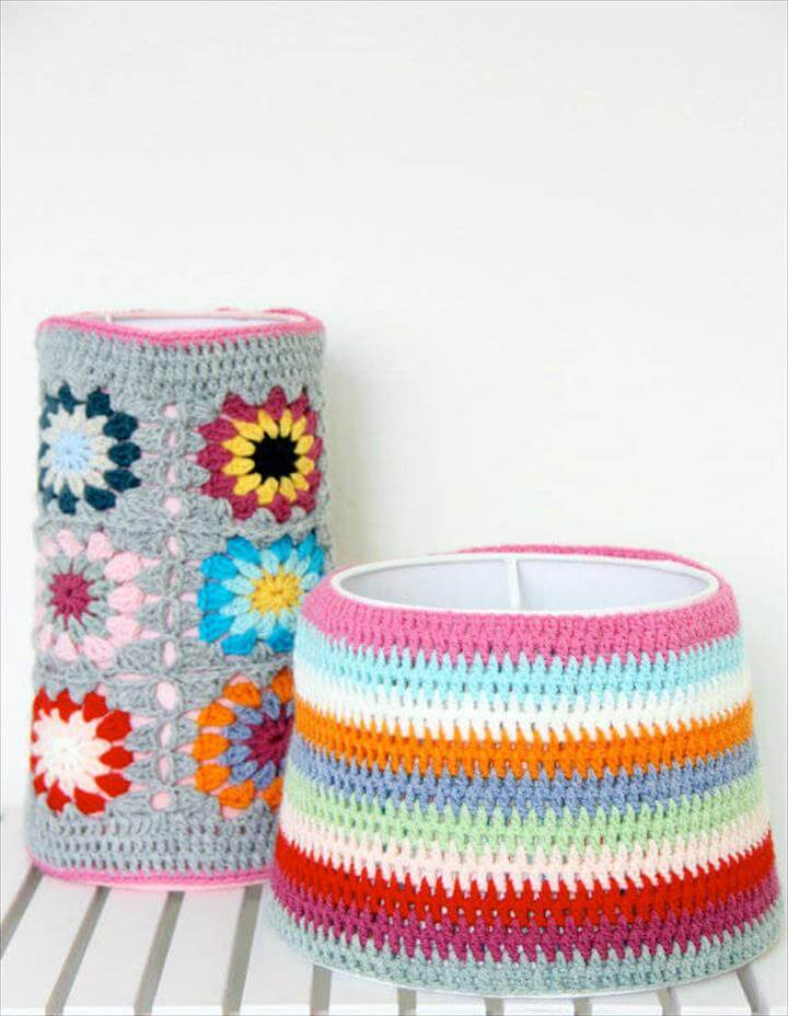 crochet two lamp shades