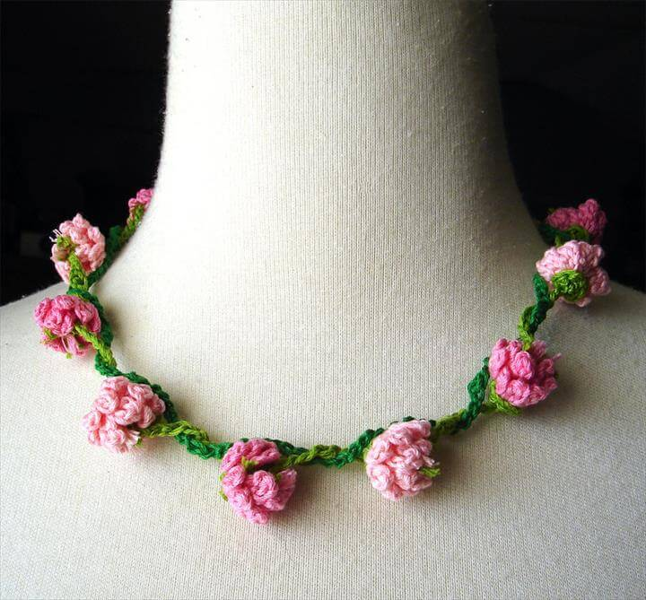 Crochet Bracelet and Daisy Chain
