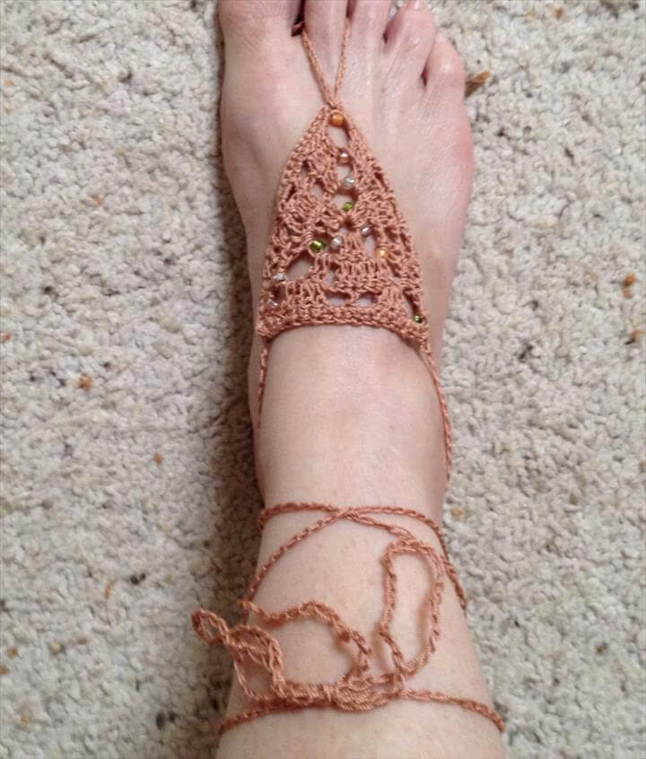 789cd373e7e1d 20 Barefoot Crochet Sandals Pattern Ideas