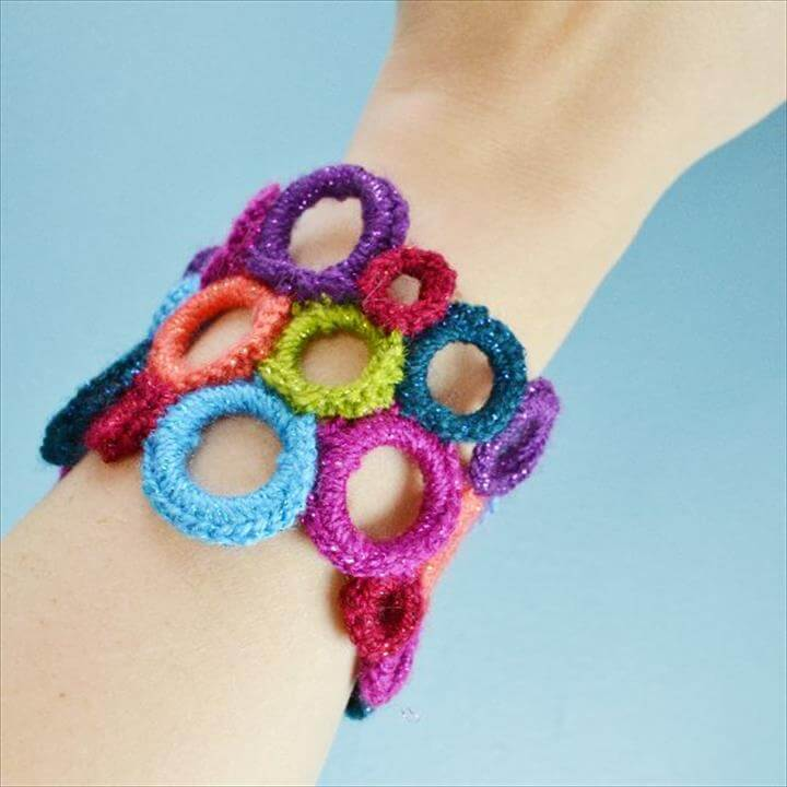 Crocheted Circle Cuff