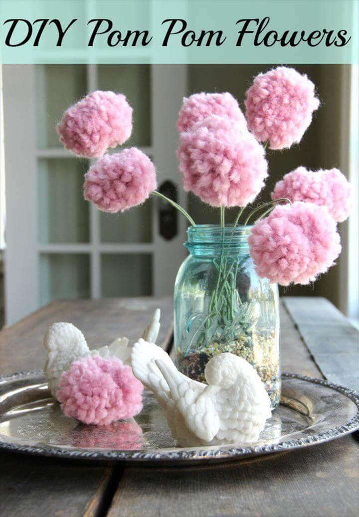 diy pom pom decorations diy pom pom flowers
