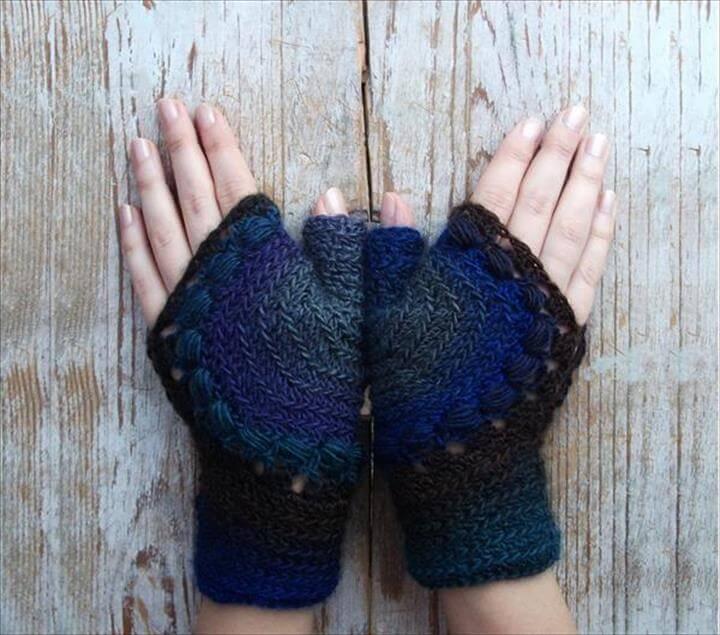 free crochet fingerless gloves