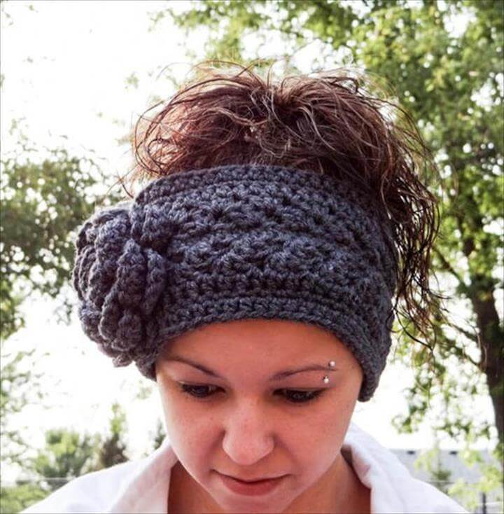 Free Crochet Pattern Headband Ear Warmer : 15 Easy Crochet Headband With Flowers DIY to Make