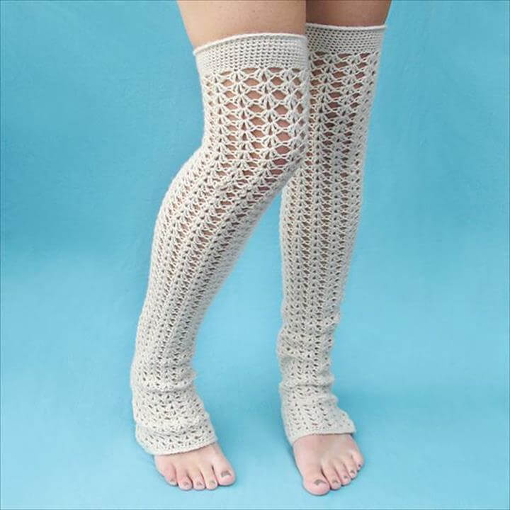 free crochet leg warmer pattern