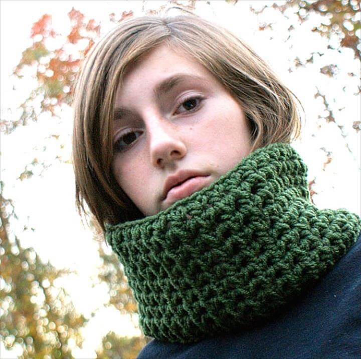 collection of green crochet Neck Warmer