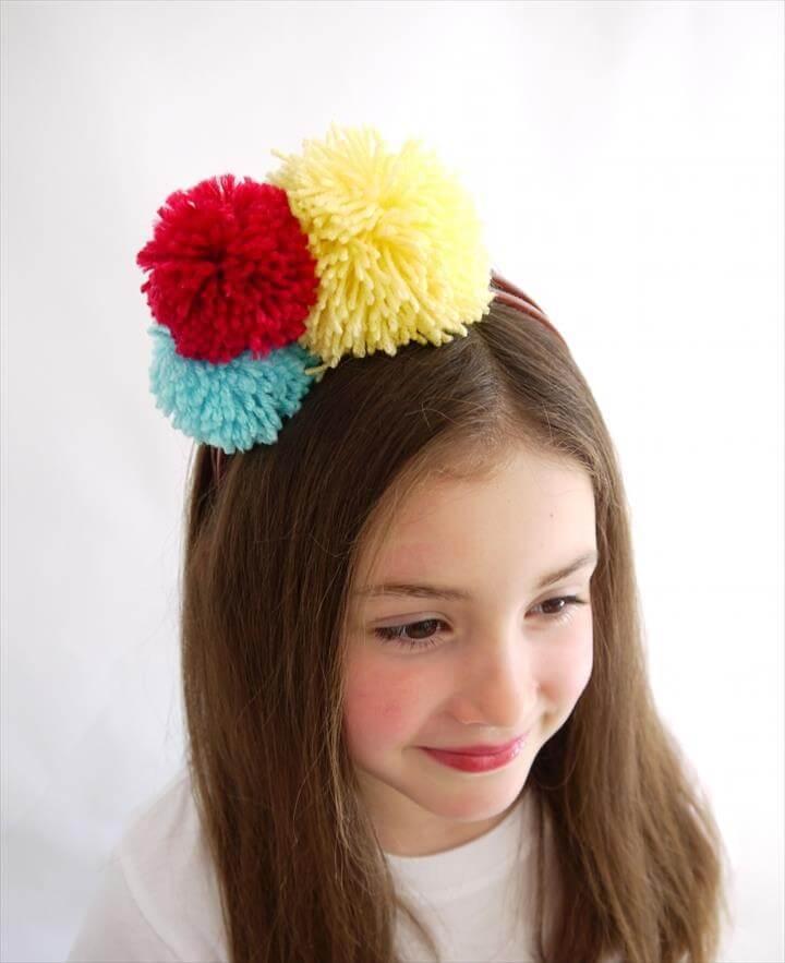 DIY Pompom Headband and Fashion Accessorie