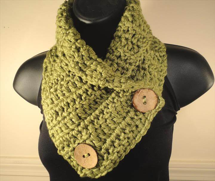 popular green crochet Neck Warmer