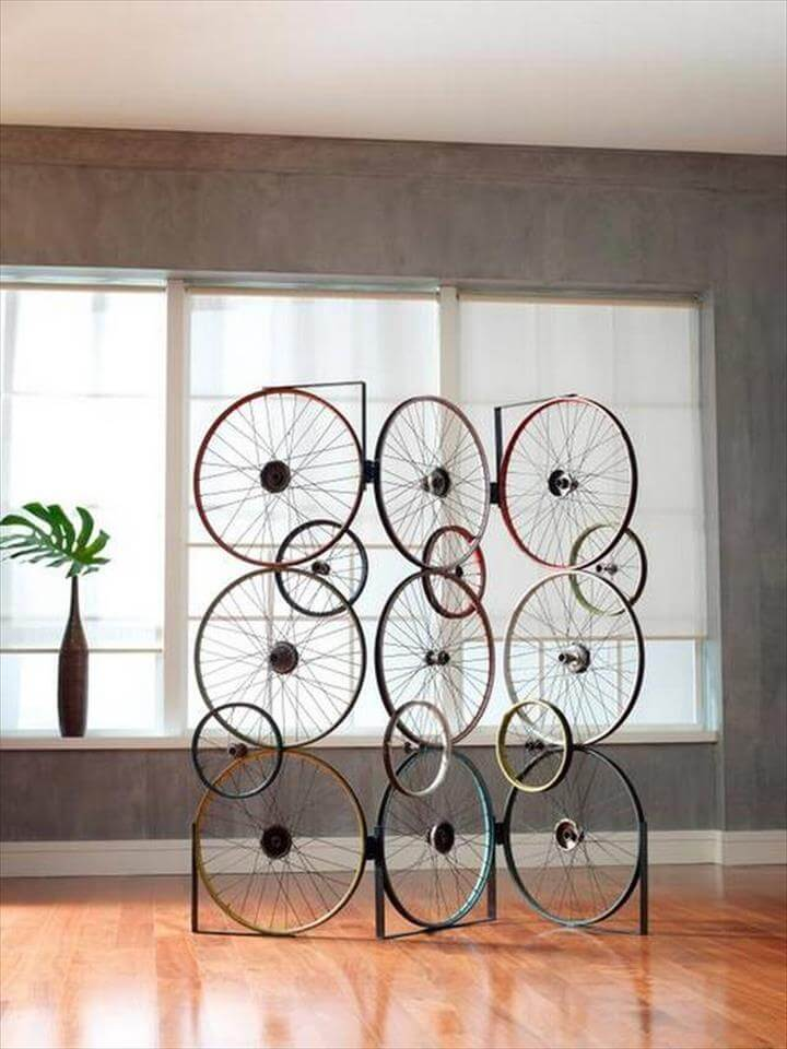 The Bicycle Screen from the Bicycle Collection is made from three panels that are hinged together
