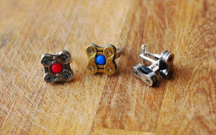rings and cufflinks.