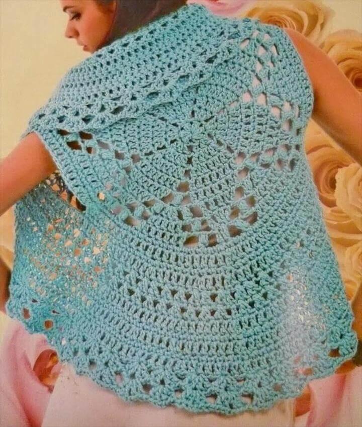 circle crochet vest