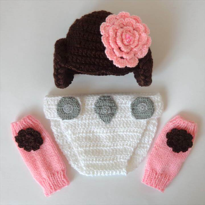 crochet diaper cover set