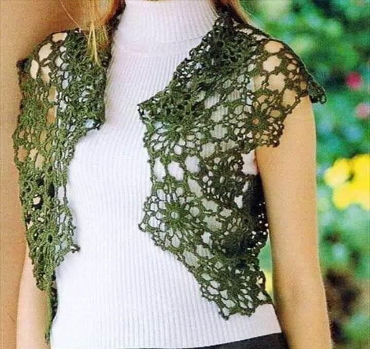 Crochet Bolero Pattern - Amazing Lace Bolero