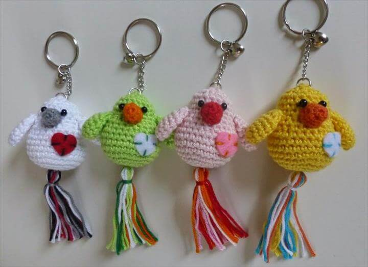 crochet-animal-keyrings
