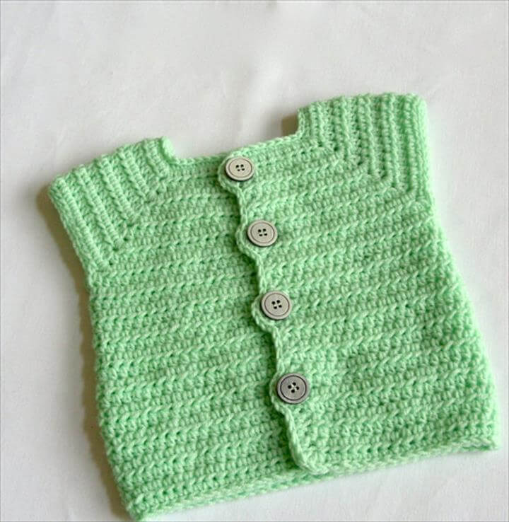 Baby Sweaters To Crochet Patterns : 20 Stylish Crochet Sweater Vest Design DIY to Make