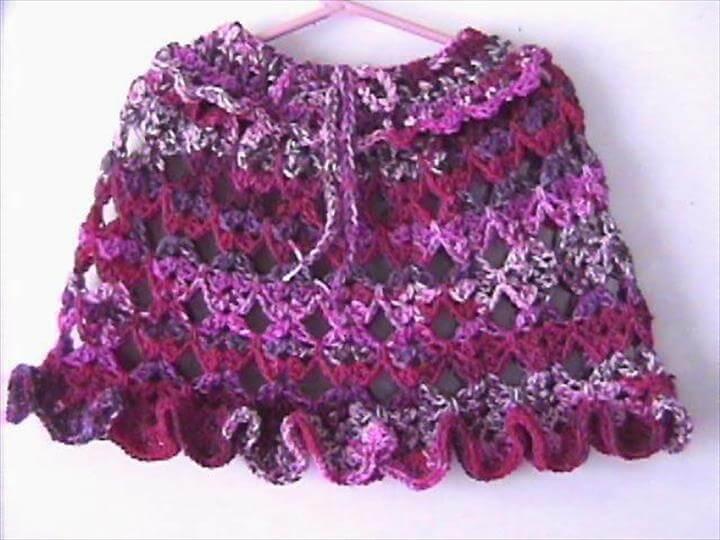 Crochet Baby Poncho Pattern