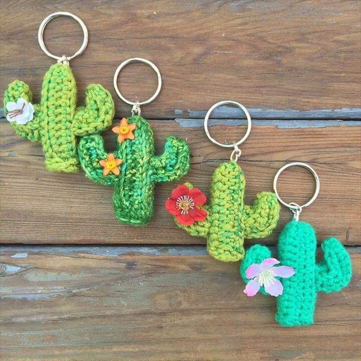 Free Knitting Patterns For Keyrings : 62 Easy Handmade Fun Crochet Pattern Keychains DIY to Make