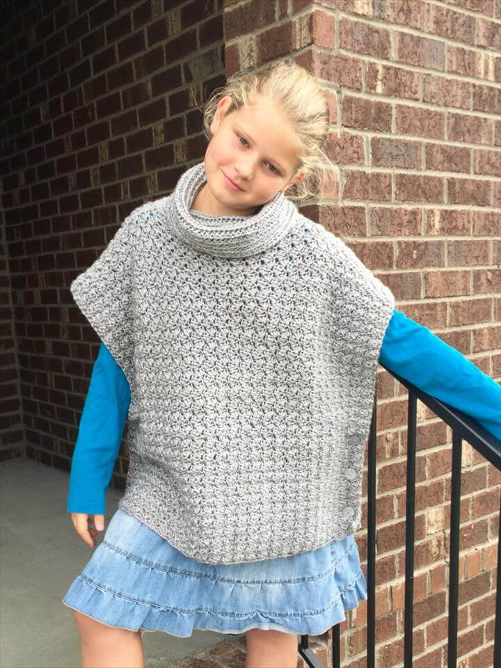 Crochet Poncho Pattern for the Fiona Poncho with Cowl for Baby