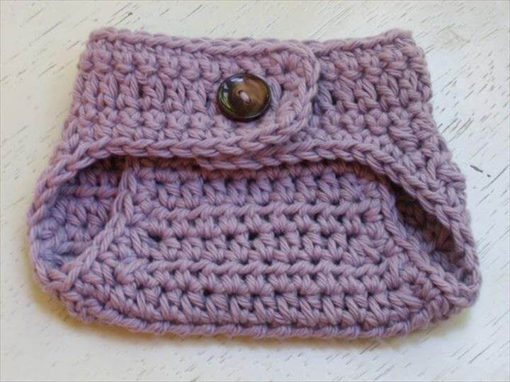 Free Crochet Baby cocoon Patterns   Baby Diaper Cover Pattern - Wild Plum Purple
